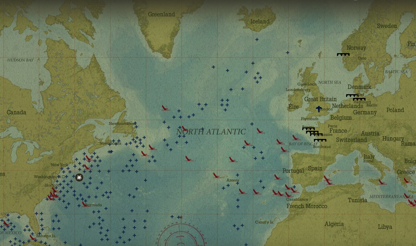 War ii battle of the atlantic online interactive now available source gumiabroncs Image collections