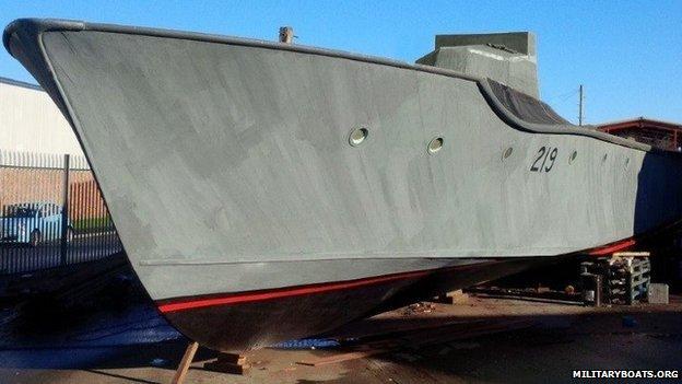 A British Motor Torpedo Boat Mtb 219 Being Restored Has