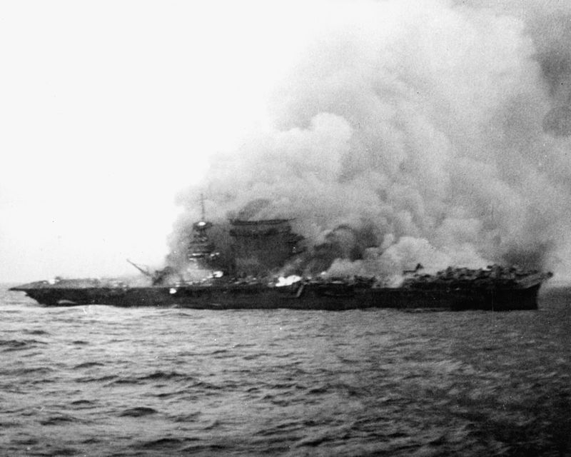 Details of the Fate of the 12 US Aircraft Carriers Sunken in World