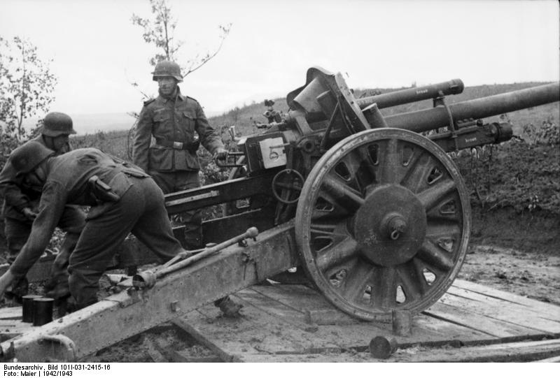 Image result for ww2 german 10.5cm gun
