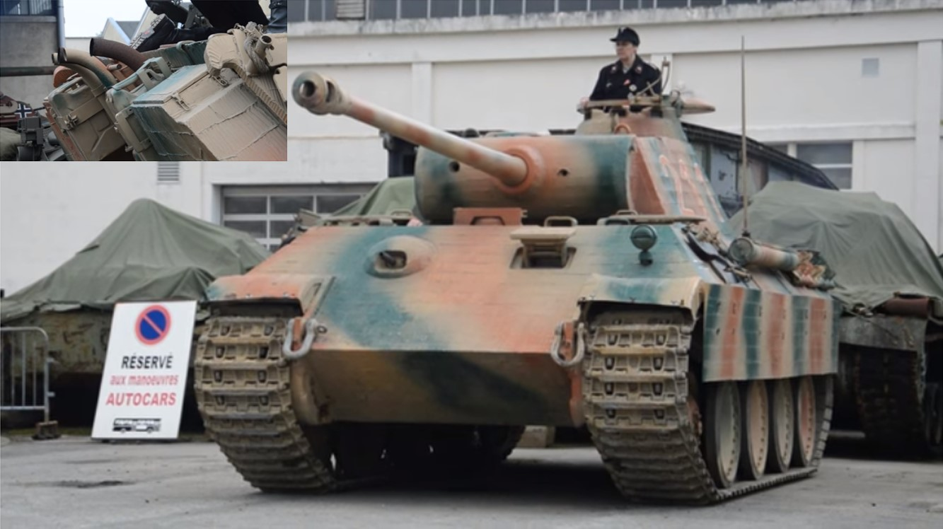 chilling german panther tank in action! - listen the start of the