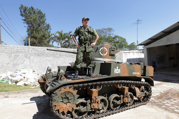 M3 Tank For Sale >> For Sale! Former M3A1 Stuart Tank Used by Brazilian Army During WWII - Ready for Use for Just US ...
