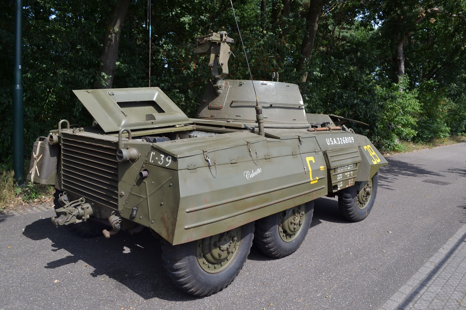 For Sale: 1944 Ford M8 Light armoured car signed by Forrest