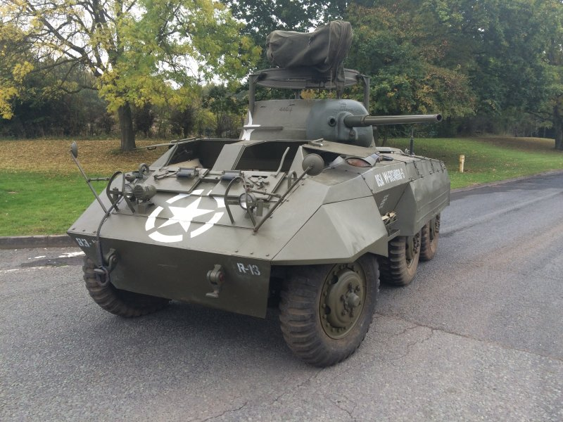 For sale: M8 Armored Car restored in great condition and original barrel