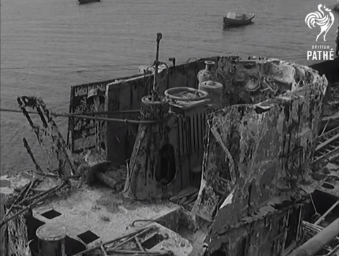 watch inside the german submarine u 843 refloated in. Black Bedroom Furniture Sets. Home Design Ideas